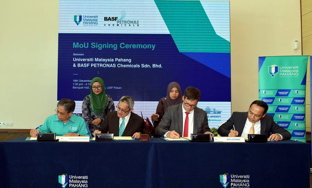 UMP and BASF PETRONAS Chemicals signed MoU on sharing of technology and knowledge and talent development
