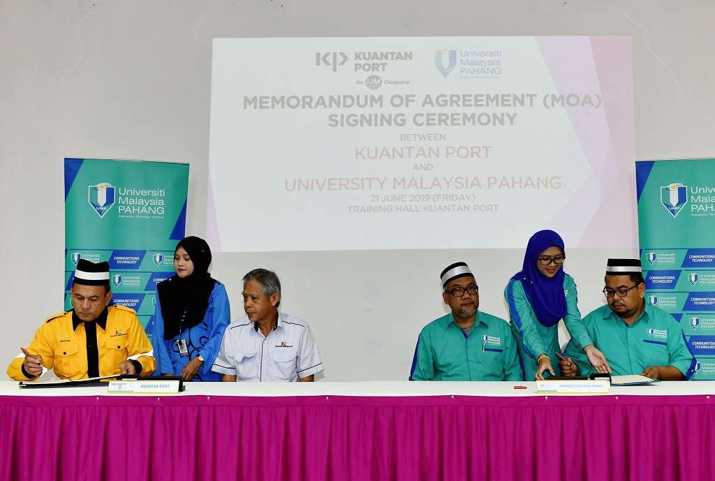 UMP, Kuantan Port signed MoA to enhance corporate governance