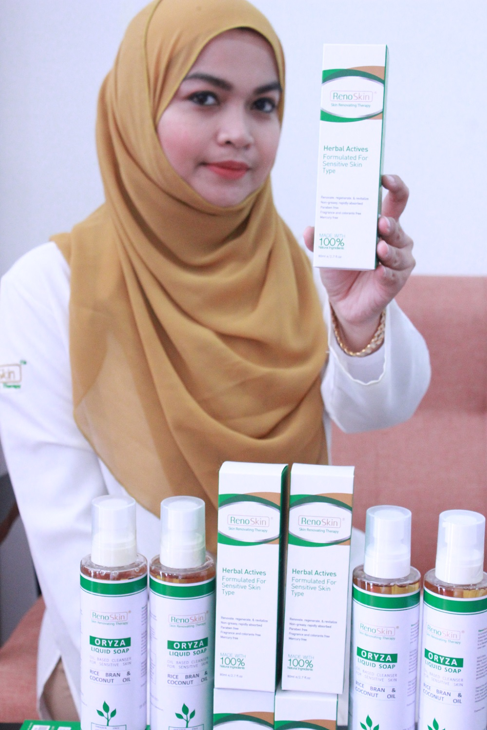 UMP postgraduate student created her own skin care product - RenoSkin