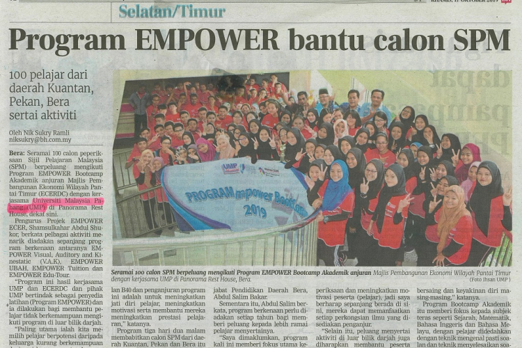 Program EMPOWER bantu calon SPM