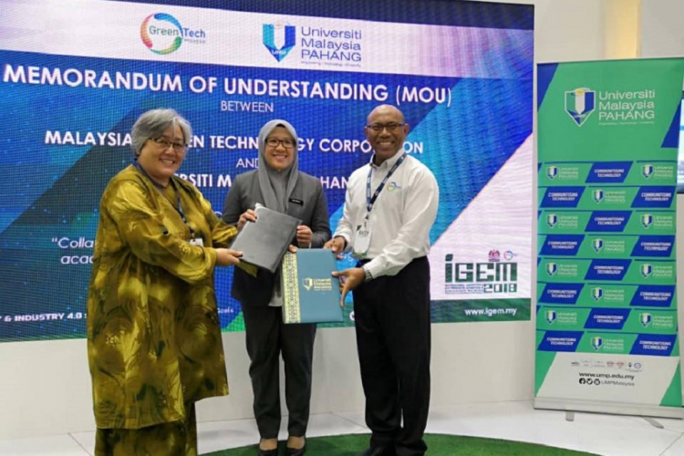 UMP going greener MoU with Greentech Malaysia
