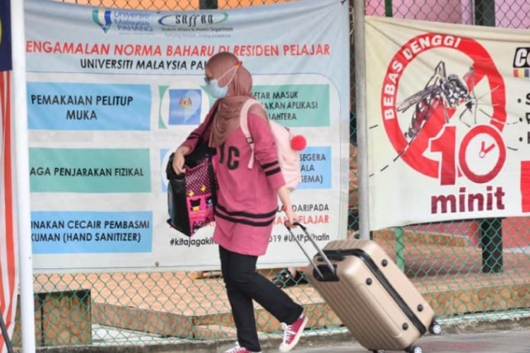 Following SOP, UMP students leave to celebrate Aidilfitri