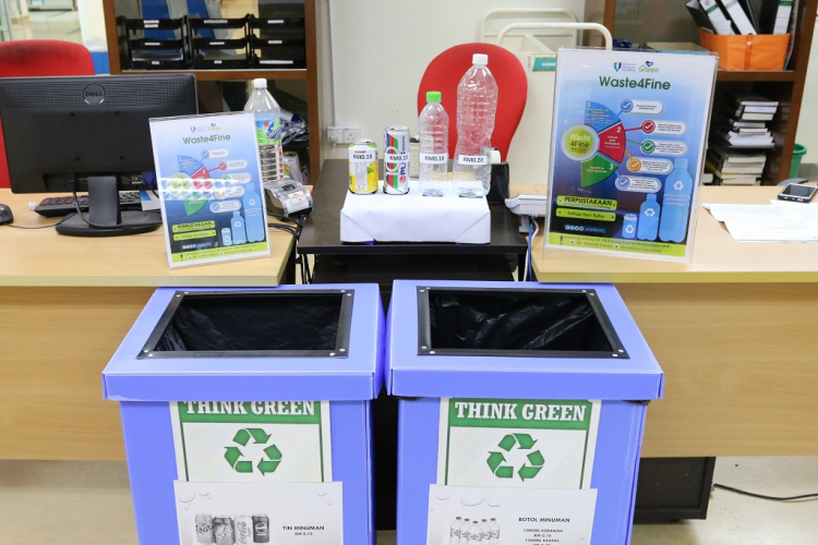 UMP Library implements Waste4Fine to promote  payment mode of fines with plastic drinking bottles