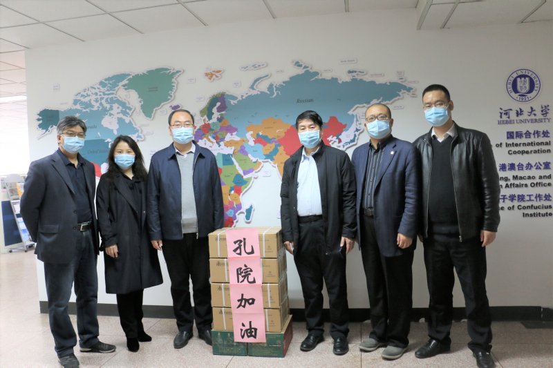 UMP receives face masks and jumpsuits from HBU China