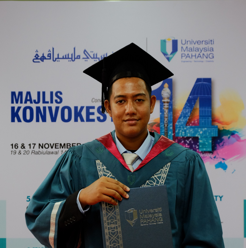 UMP–HsKA Dual-Degree graduate, Mohammed Shafiq is active in sports