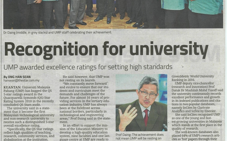 Recognition for university