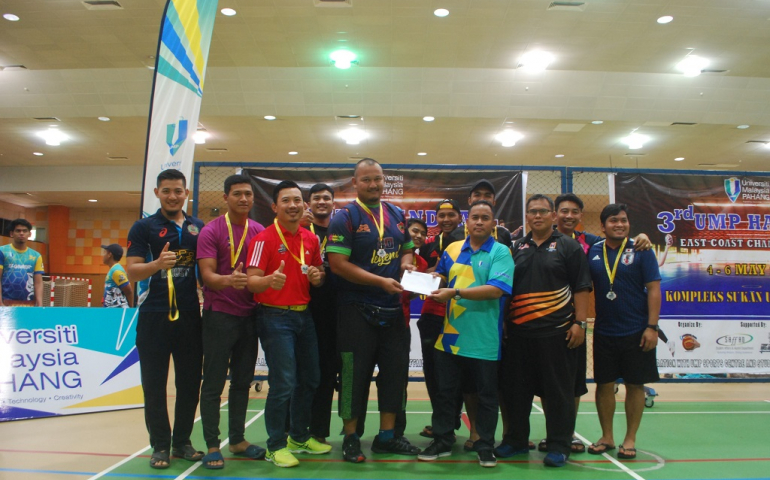 Penganjuran 3rd UMP Handball medan pemilihan pemain negara ke Sukan Asia Jakarta 2018